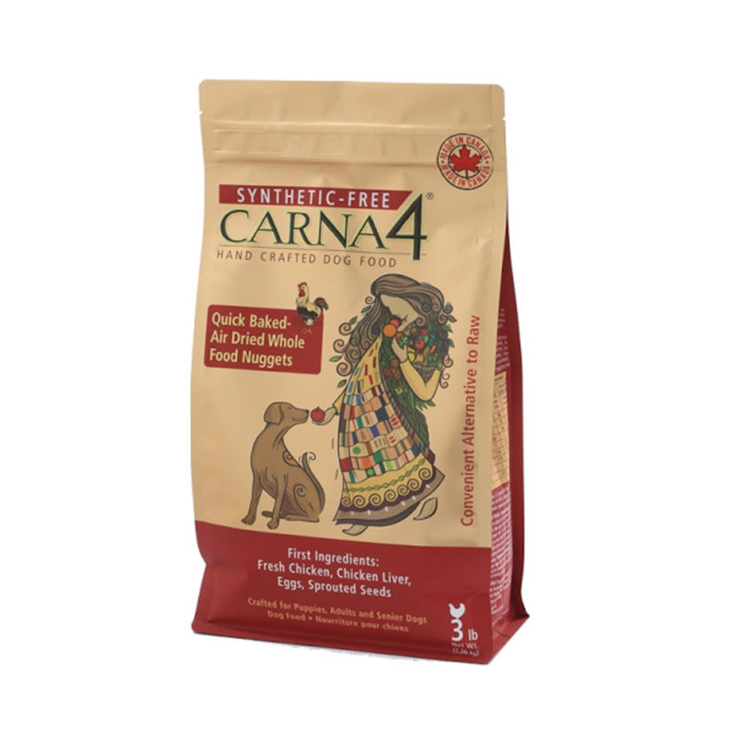 CARNA4 烘焙風乾狗糧 – 雞肉、三文魚配方 (22 lb)