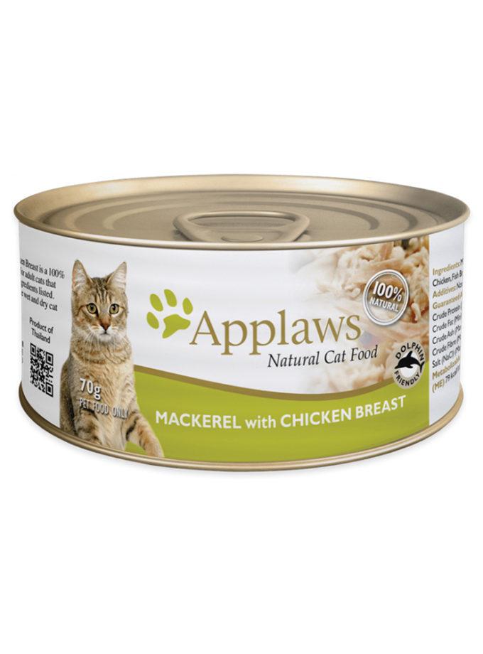 Applaws 天然成貓罐頭 - 鯖魚 + 雞胸 (70g)