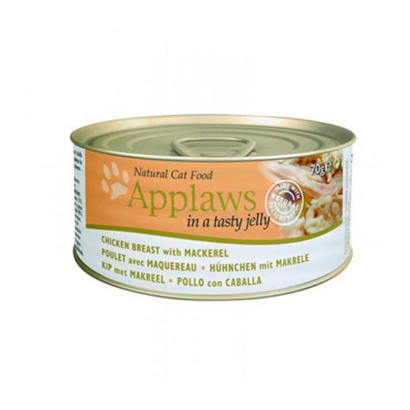 Applaws 天然貓啫喱罐頭系列 - 雞胸 + 鯖魚 (70g)