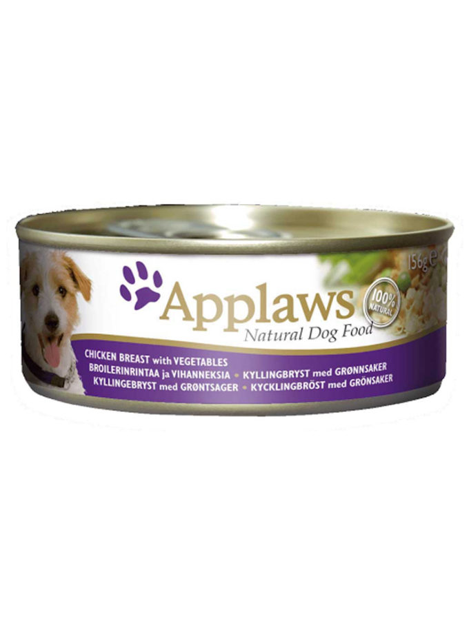 Applaws 狗糧罐頭 - 雞胸肉、蔬菜 (156g)