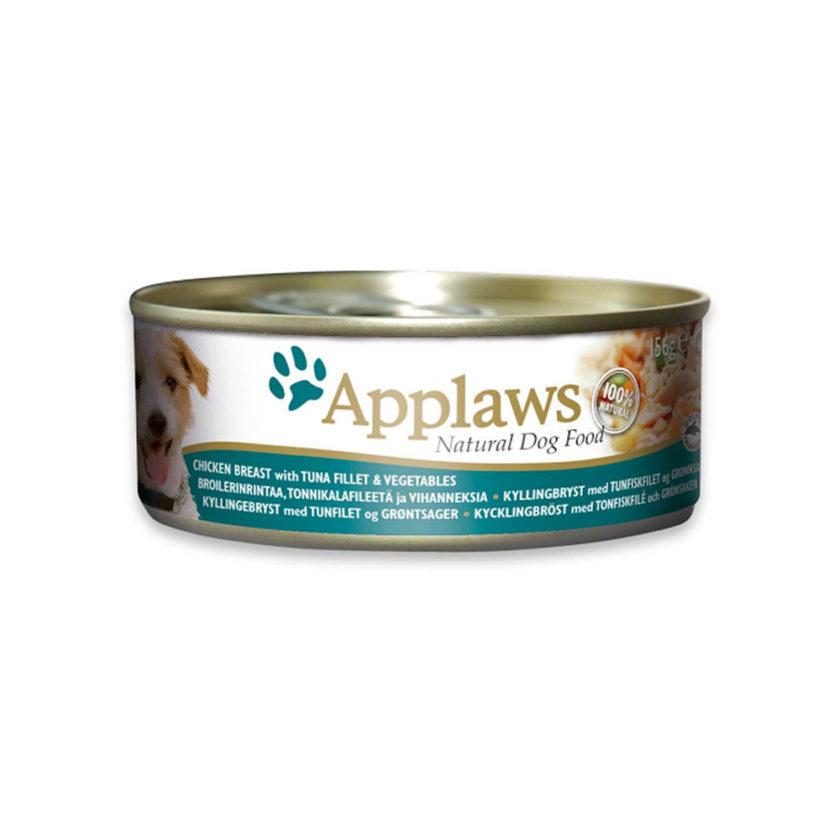 Applaws 狗糧罐頭 - 雞胸肉、吞拿魚、蔬菜 (156g)