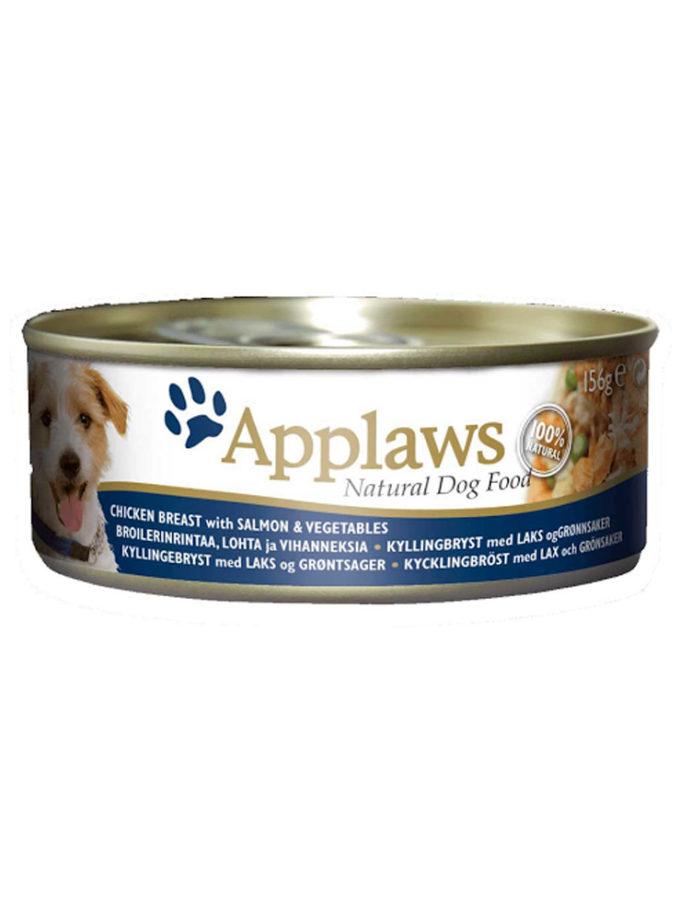 Applaws 狗糧罐頭 - 雞胸肉、三文魚、蔬菜 (156g)