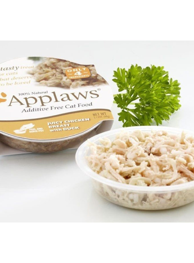 Applaws 全天然膠碗貓濕糧 - 雞胸、鴨肉 (60g)