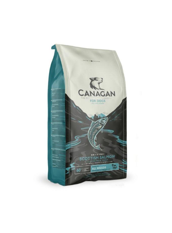 CANAGAN 天然無穀物狗乾糧 - 蘇格蘭三文魚配方 (12kg)