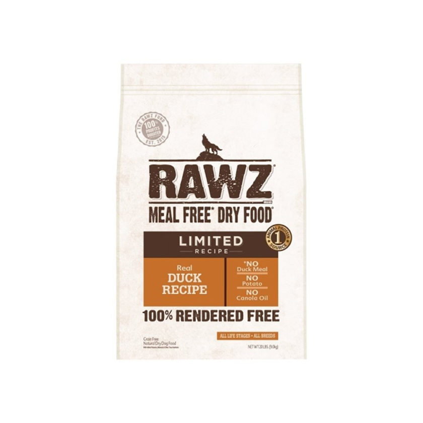 RAWZ Limited 單一動物蛋白配方 鴨肉狗糧 (不含肉粉) (20 lb)