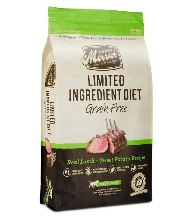 Merrick Grain Free Limited Ingredient Real Lamb