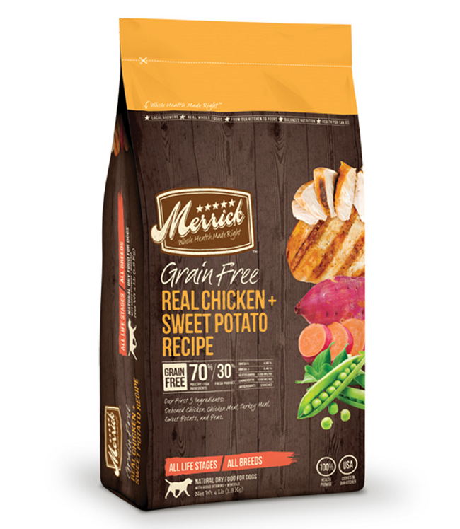 Merrick Grain Free Real Chicken & Sweet Potato Recipe 25LB