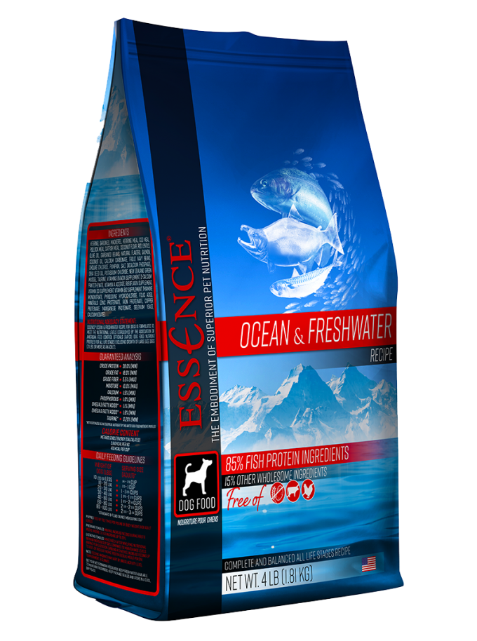 essence ocean and freshwater dog food