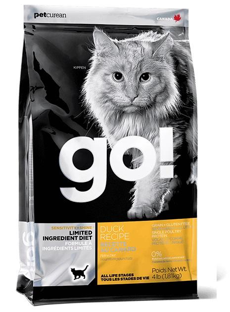 Go! 單一蛋白 鴨肉 低敏配方貓糧 3LB