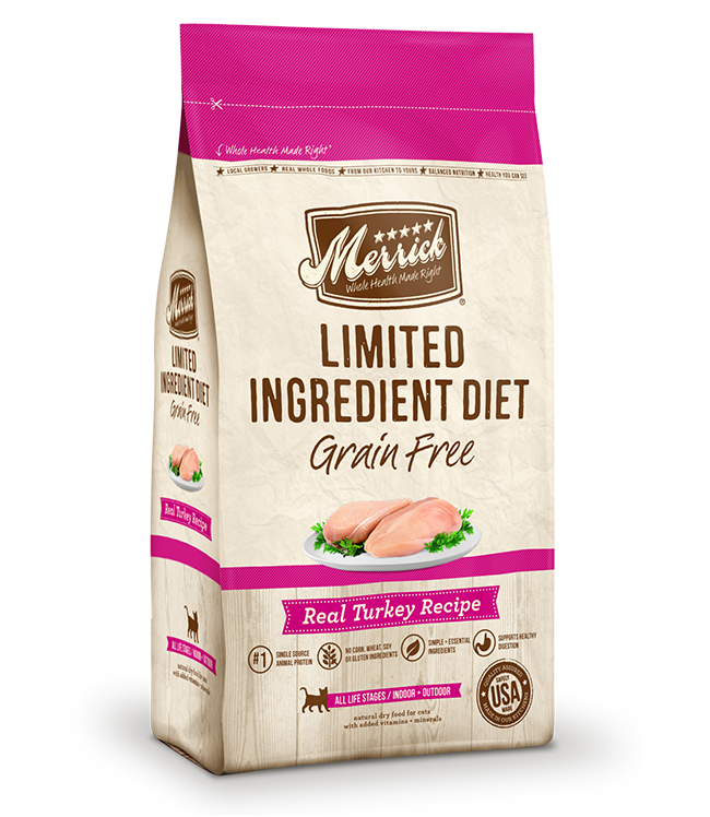Merrick Cat Grain Free Limited Ingredient Diet Turkey 12LB