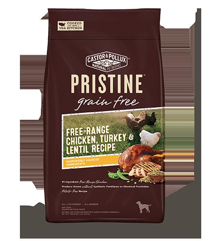 PRISTINE™ Grain Free Free-Range Chicken Turkey & Lentil Recipe