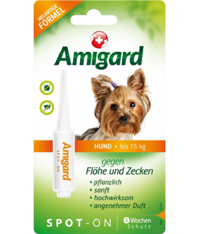 Amigard Spot - On犬用天然防蝨滴(15公斤以下) 1支