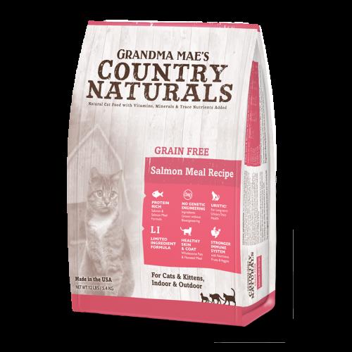 Grandma Country Naturals 無穀物貓糧三文魚低敏感配方 Grain Free Salmon Meal Recipe 3LB