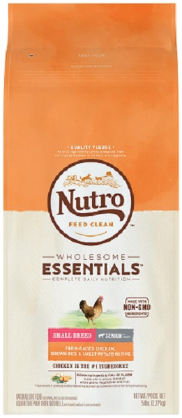 NUTRO NATURAL CHOICE 小型高齡犬雞肉及全糙米配方 5LB