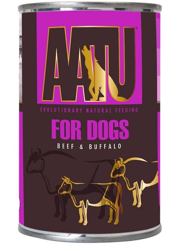 AATU狗用主食罐頭 牛肉配水牛全配方 400G