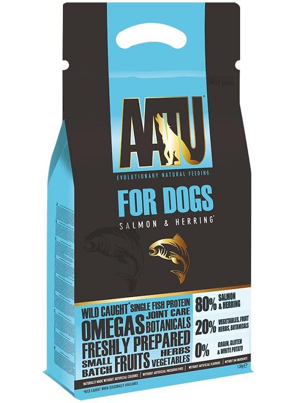 AATU全天然低敏狗糧-三文魚 1.5KG