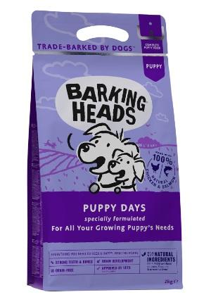 Barking Heads 無穀物全天然幼犬成長配方(Puppy Days三文魚、雞肉、雞蛋62%) 2KG