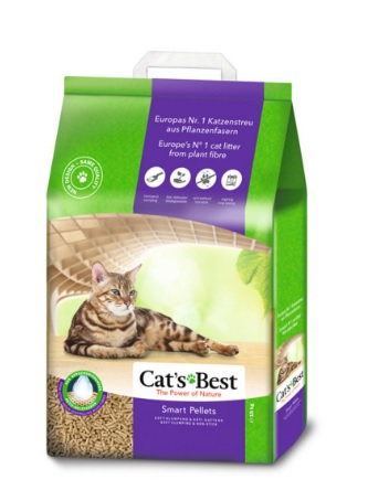 Cat's Best 不黏毛黏結木粗粒貓砂(紫色) (10kg)