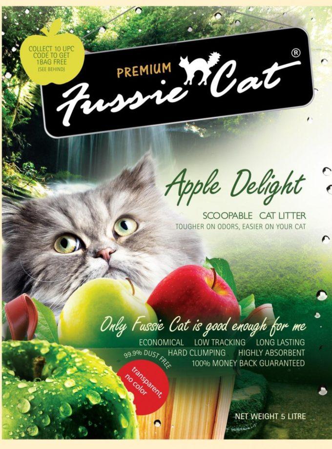 Fussie Cat高竇貓凝結砂 Apple(蘋果味) 10L