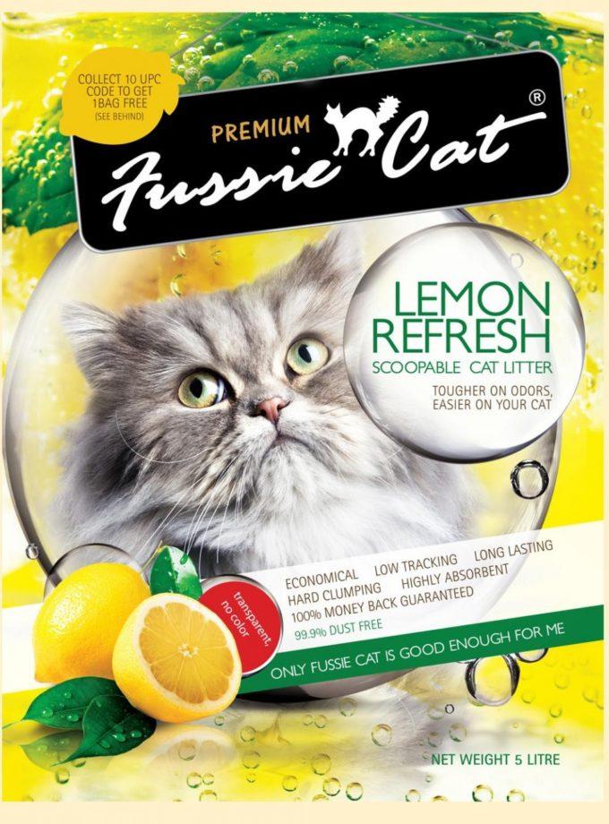 Fussie Cat高竇貓凝結砂 Lemon(檸檬味) 10L