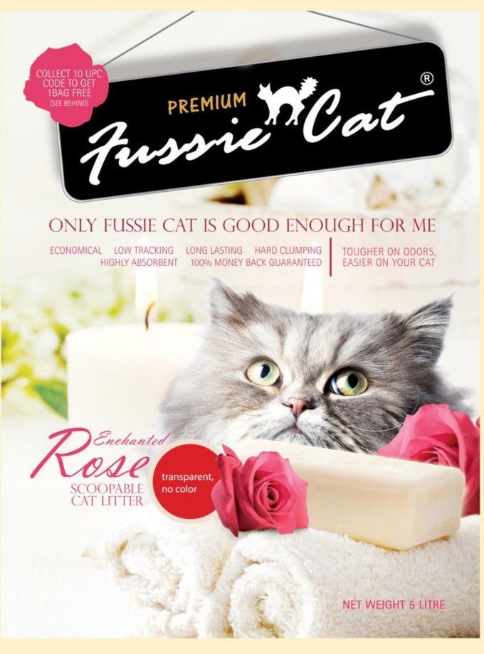 Fussie Cat高竇貓凝結砂 Rose(玫瑰味) 10L