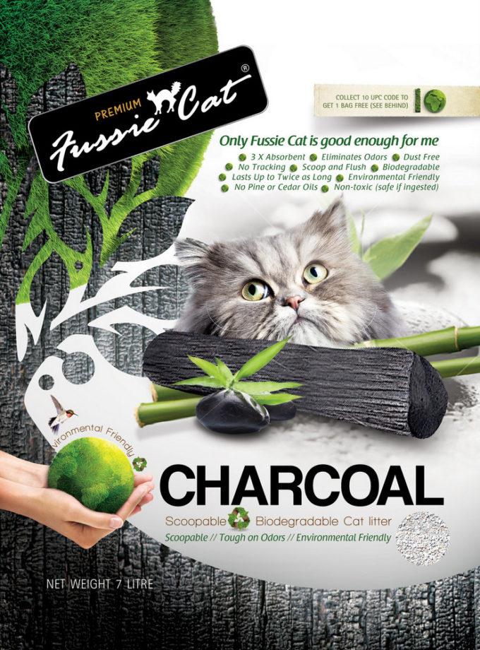 Fussie Cat Charcoal Paper Litter 活性炭紙貓砂 7L
