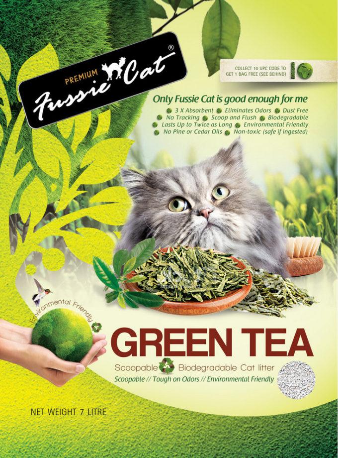 Fussie Cat Green Tea Paper Litter 貓綠茶紙貓砂 7L