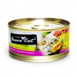 Fussie Cat Premium 高竇貓純天然貓罐頭 (吞拿魚+雞肉) 80G