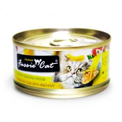 Fussie Cat Premium 高竇貓純天然貓罐頭 (吞拿魚+鯷魚) 80G