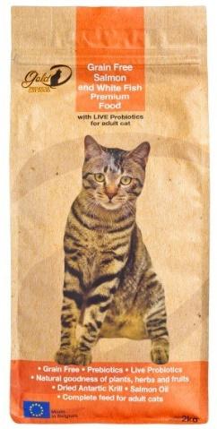 GOLD-D PREMIUM CAT FOOD 三文魚及白魚成貓糧 2KG