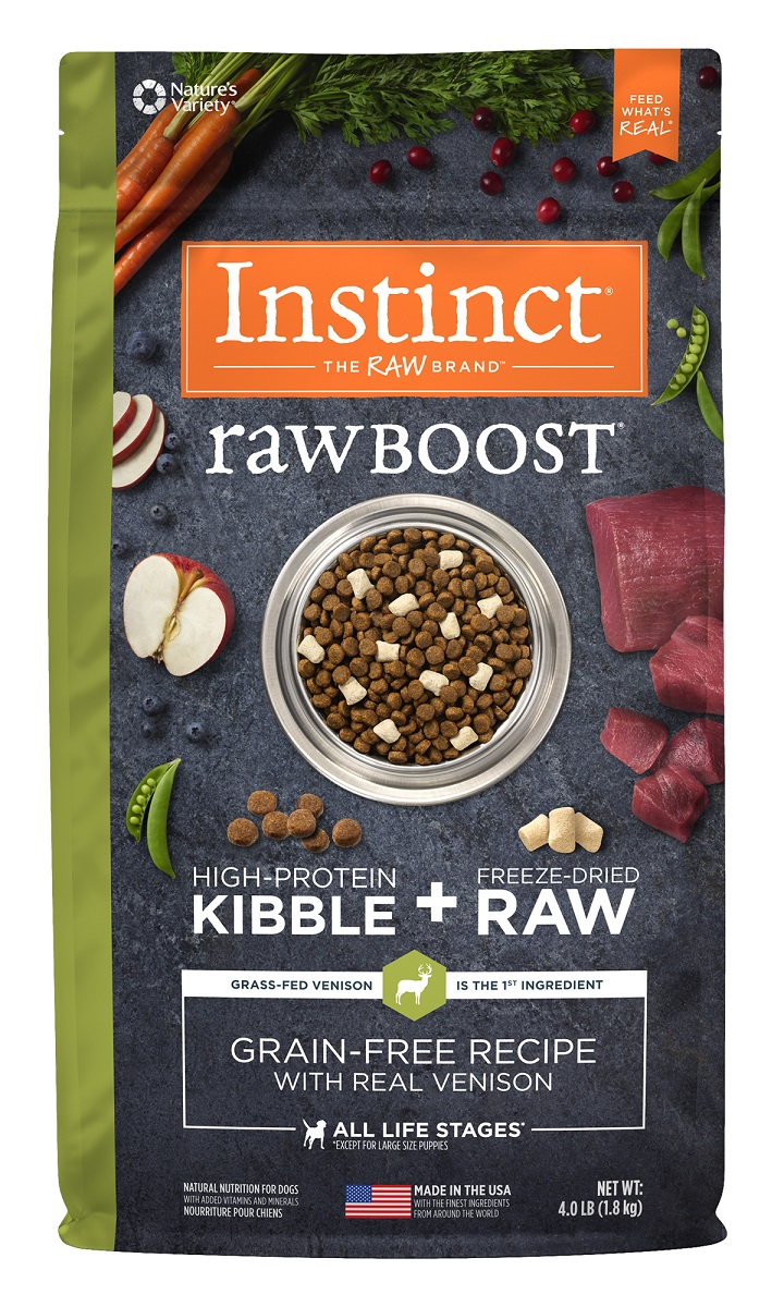 Instinct® Raw Boost® Grain-Free Recipe with Real Venison 4LB