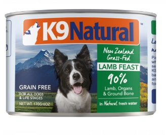 K9 NATURAL 羊肉盛宴 主食狗罐頭 170G