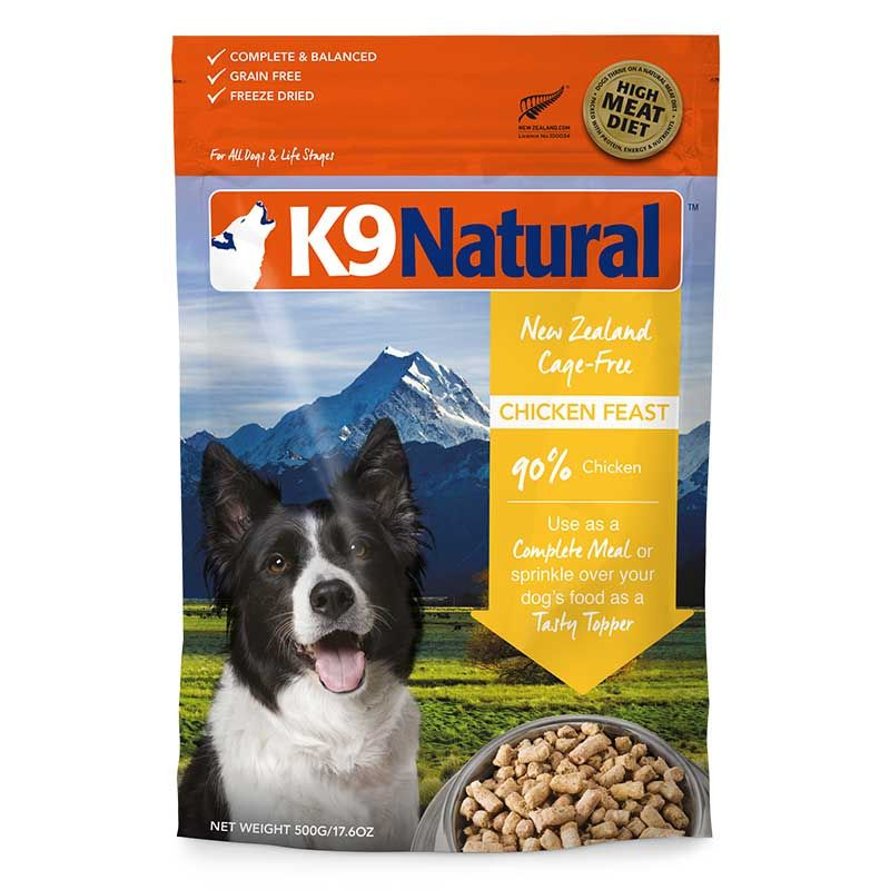 K9 Natural 無穀物脫水狗糧 雞肉 500G