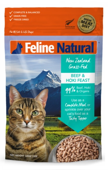 K9 Natural Freeze Dried Beef and Hoki Feast For Cats