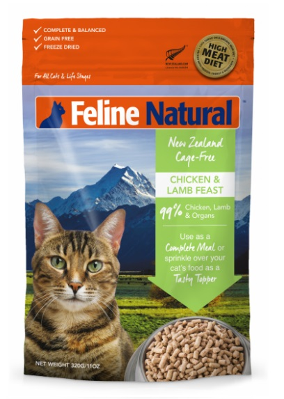 K9 Natural Freeze Dried Lamb & Salmon Feast For Cats 凍乾脫水雞羊盛宴 320g