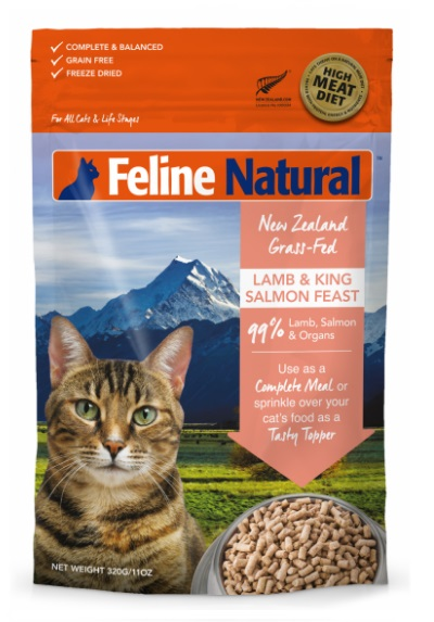K9 Natural Freeze Dried Lamb & Salmon Feast For Cats 凍乾脫水羊肉三文魚盛宴 320g