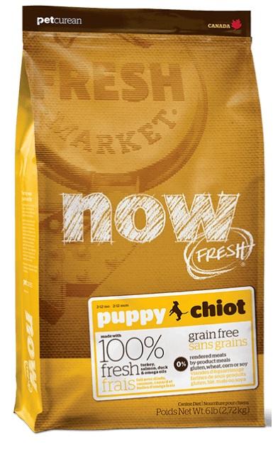 NOW FRESH ALL BREEDS Grain Free Puppy Dog Food 幼犬 (火雞,三文魚, 鴨肉) 6LB