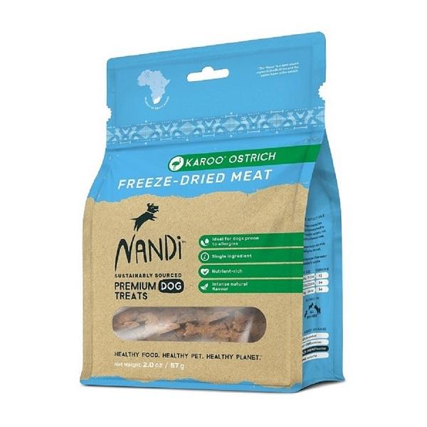 NANDI 南非原野凍乾鴕鳥肉 57G