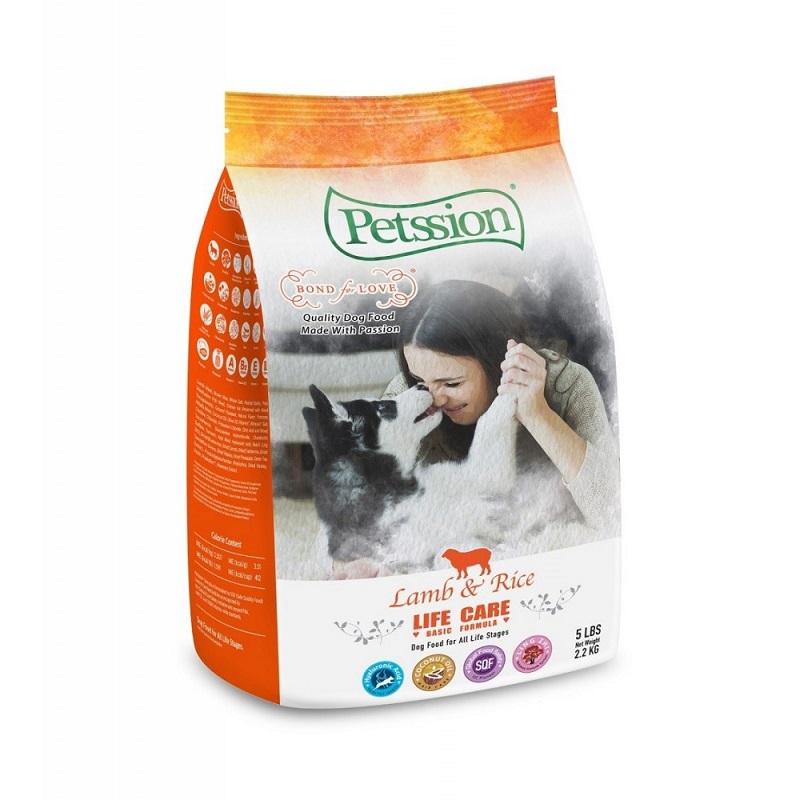Petssion Life Care Lamb+rice 羊肉糙米狗糧 5LB