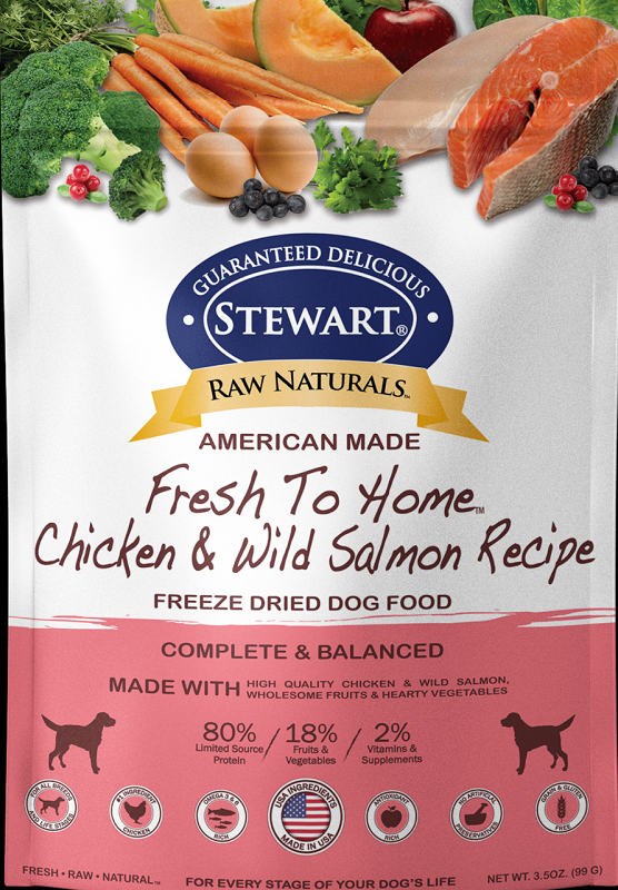 Stewart凍乾生肉全犬糧-三文雞肉 12 oz