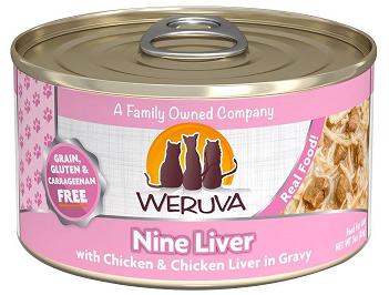 WERUVA 無穀貓糧罐頭 - 大塊雞柳、雞肝、美味肉汁 (3oz)