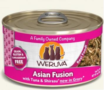 WERUVA 無穀貓糧罐頭 - 紅肉吞拿魚、幼鯷魚 (3oz)