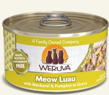 WERUVA 無穀貓糧罐頭 - 鯖魚片、南瓜、紅蘿蔔 (3oz)