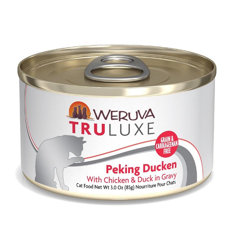 WERUVA Truluxe 尊貴系列 無穀貓糧罐頭 - 走地雞、大塊鴨肉、美味肉汁 (3oz)