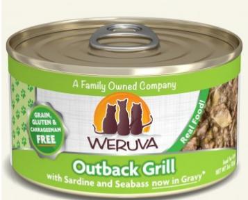 WERUVA 無穀貓糧罐頭 - 沙甸魚、鰺魚、肺魚 (3oz)