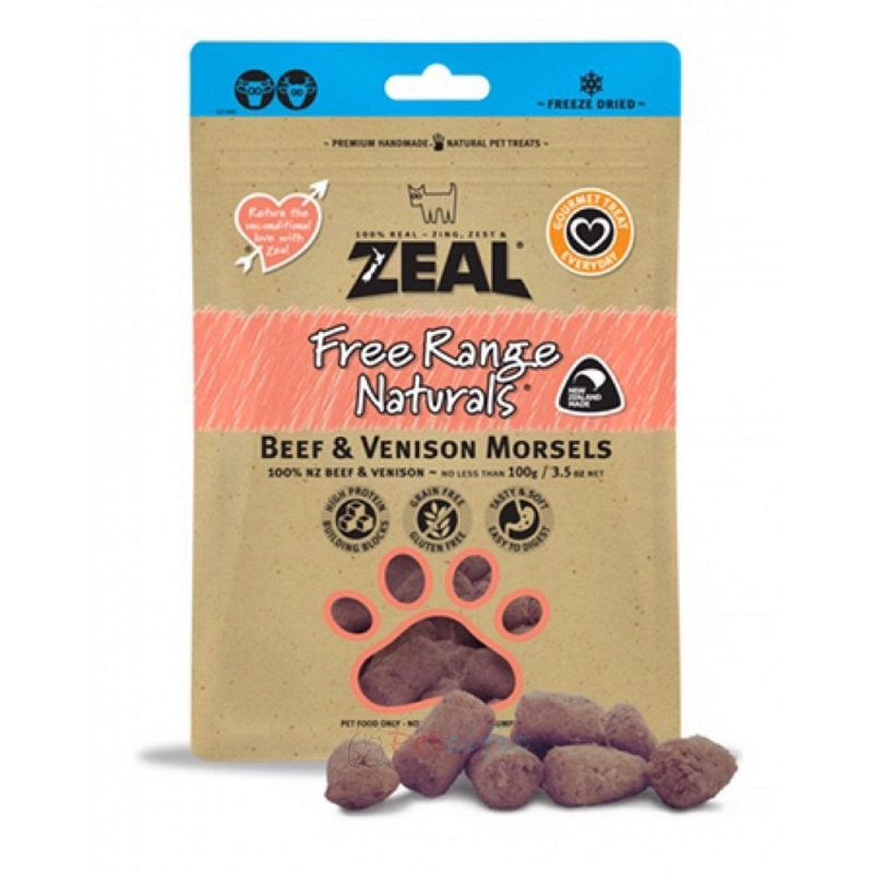 Zeal Beef & Venison Morsels 牛肉 + 鹿肉 100g
