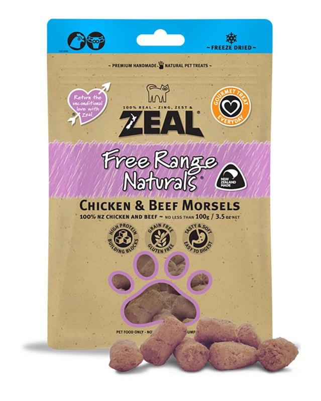 Zeal Chicken & Beef Morsels 雞肉 + 牛肉 100g