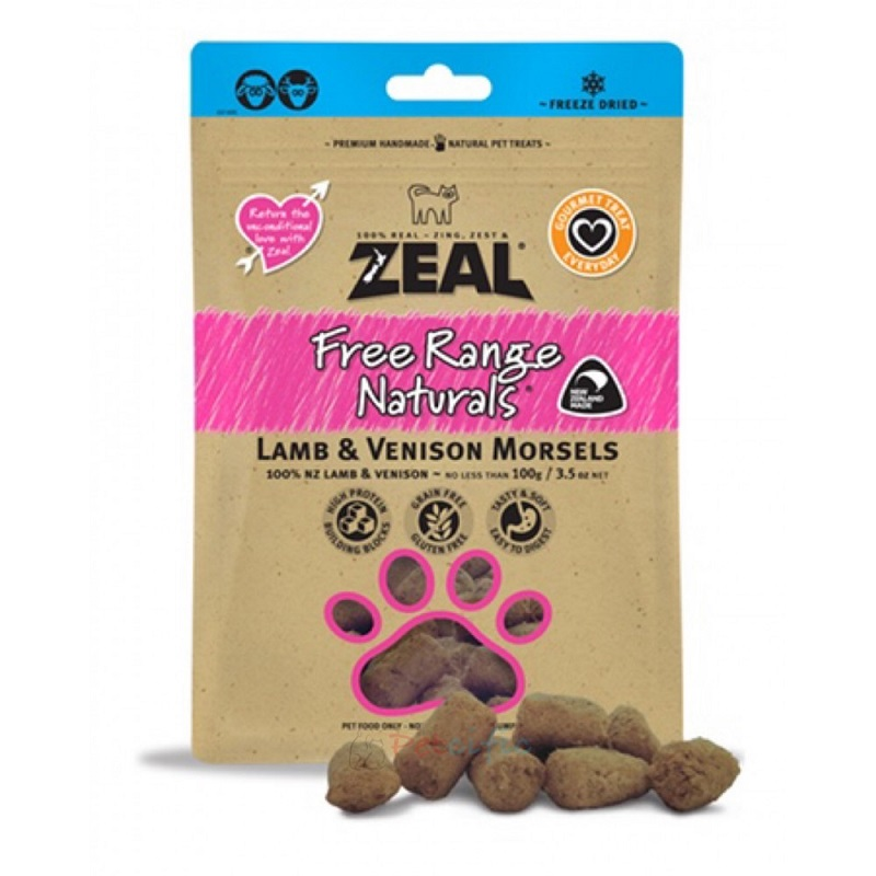 Zeal Lamb & Venison Morsels 羊肉 + 鹿肉 100g