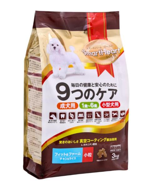 Smart Heart 愛心金裝成犬糧 (雞肉+飯 3kg)