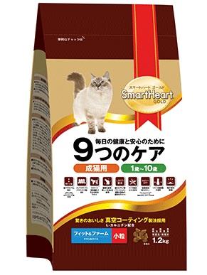 Smart Heart 愛心金裝成貓糧 雞肉+飯口味 - Fit and Firm 2.4kg